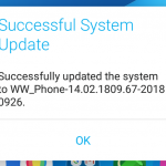 ASUS ZenFone Max Plus (M1) firmware update to 14.02.1809.67